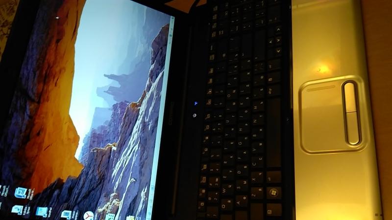 Ноутбук Toshiba 2 ядра 2300 Mhz 0,8 Gb 150 hdd cr 15,6 dvd wi-fi camera